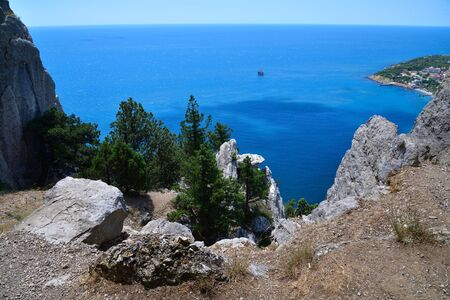 Landscape on Cat mountain with the Black Sea in Crimea