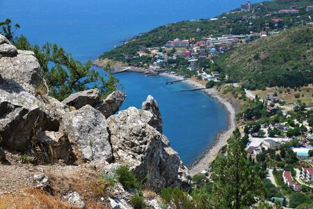 View of the Simeiz village from a Koshka Mount in Crimea