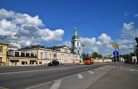 Moscow, Russia - 02 June. 2019. Yauzskaya Street is one of the oldest streets of the city