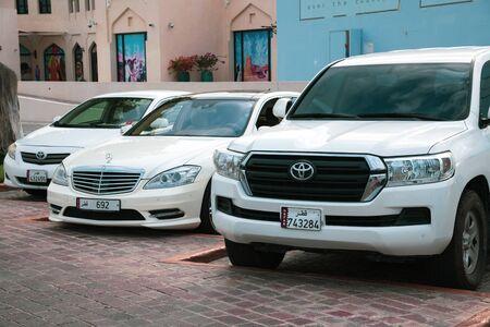Doha, Qatar - Nov 26. 2019 A row of expensive cars