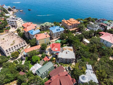 View of Foros village and the Black Sea. Crimea