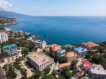 View of Foros village and the Black Sea. Crimea Foto de archivo