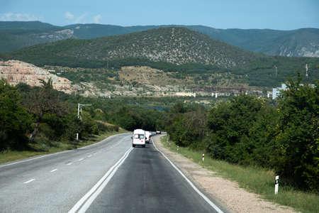 The Automobile road in Balaklava region Crimea