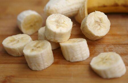 Skin-free banana pieces ready to eat Фото со стока