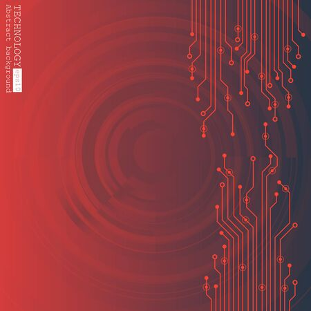 Illustration vectorielle de circuit imprimé. Technologie abstraite Banque d'images - 87124179