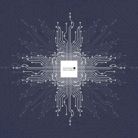Abstract geometric technology background. Vector Illustration.