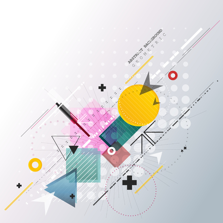 Abstract background with colorful geometric elements. Illustration