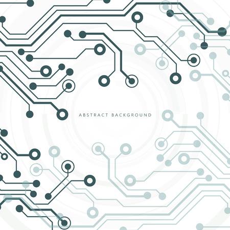 Placa de circuito, fondo de tecnología. Ilustración vectorial Ilustración de vector