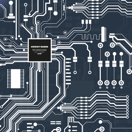 Vector circuit board illustration. Abstract technology concept Illustration