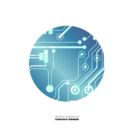 Vector circuit board illustration. Abstract technology. Microchip background.