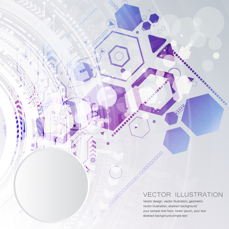 Abstract technological background with various technological elements. Structure pattern technology backdrop. Vector 矢量图像