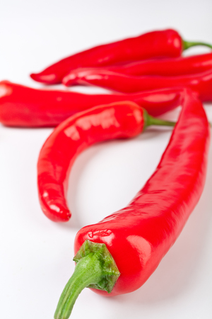red chilly: group of hot red chilly peppers