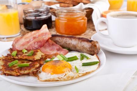 desayuno americano tradicional Foto de archivo