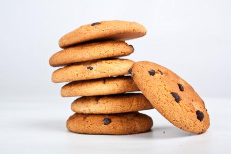 Stapel von sieben Schokoladenkekse Standard-Bild - 31593394