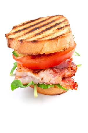 Speck, Salat und Tomaten BLT-Sandwich Standard-Bild - 31593486