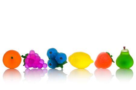 Obst Seifen isoliert auf weißem Hintergrund Standard-Bild - 4613393