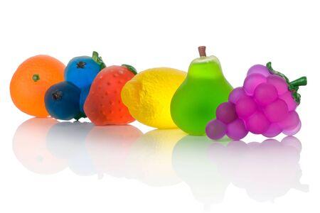fruit soaps isolated on white background
