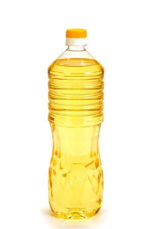Olie fles geïsoleerd op witte achtergrond