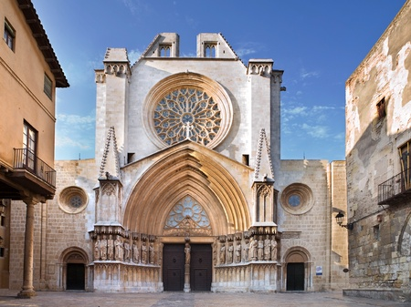 view of the Tarragona Cathedral, Spain Stock Photo