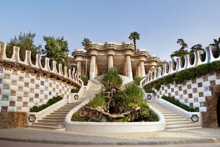 barcelona spain: Entrance to The Gaudi Museum in Barcelona, Spain