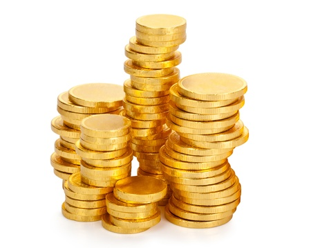 Gold coin: Lots of chocolate money in a gold wrapper