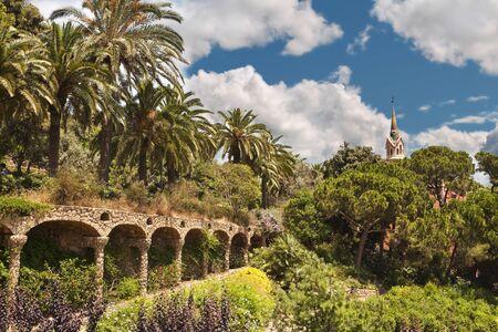 guell: Park Guell, Barcelona, Spain