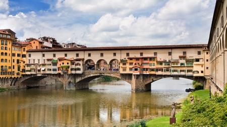 vechio: Famous medieval bridge in Florence, Italy - Ponte Vecchio Stock Photo