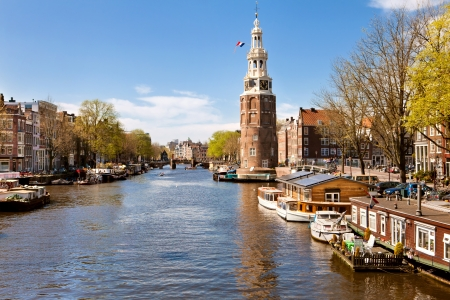 Classical landscape of Amsterdam, Netherlands photo