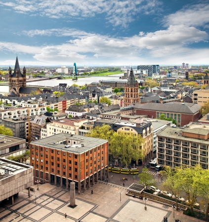 cologne: Panorama of Cologne, Germany
