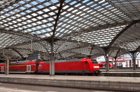 Treinstation in Keulen Redactioneel