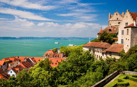 Meersburg and Lake Constance, Germany  版權商用圖片