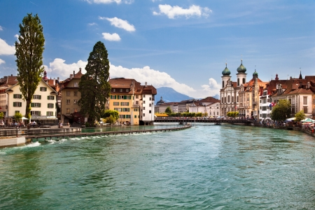 The beautiful city in Switzerland - Lucerne photo