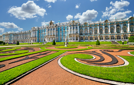 summer palace: Catherine Palace is a splendid example of the Russian Baroque  Petersburg  Russia  Editorial