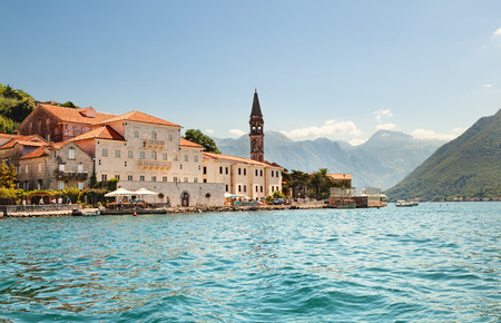 montenegro: The old town of Perast in Boka Kotorska Bay. Montenegro