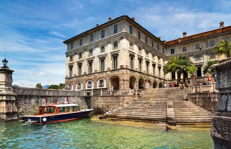 borromeo: STRESA, ITALY - JUNE 25, 2012: Borromeo Palace on Isola Bella island at Stresa, Italy on June 25, 2012.