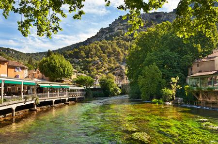 Fontaine de Vaucluse, Provence, Frankrijk Stockfoto