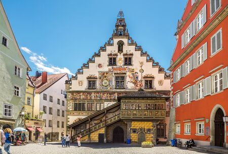 Linday, Germany - May 05, 2017: Old Town Hall in Lindau in Lake Constance, Germany Editorial