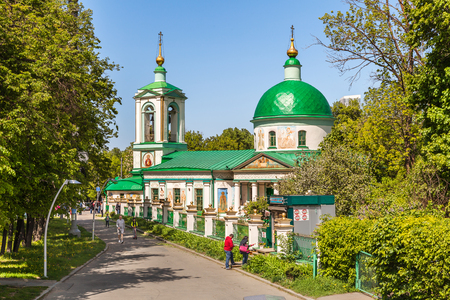 Moscow, Russia - May 15, 2016: Church of the Holy Trinity on the Sparrow Hills, Moscow