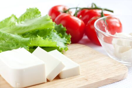 Feta cheese and tomato salad - Ingredients photo