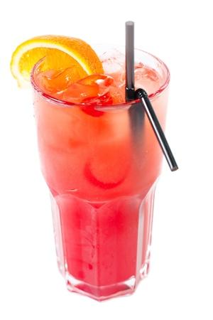 Bright and delicious cocktail  Isolated on white Archivio Fotografico