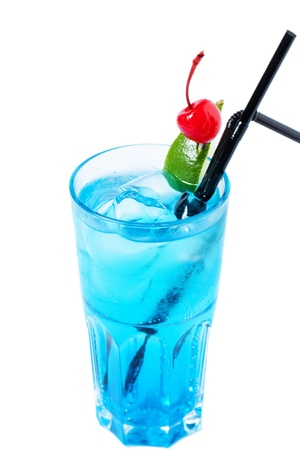 thirst quenching: Cool alcoholic cocktail with a cherry.
