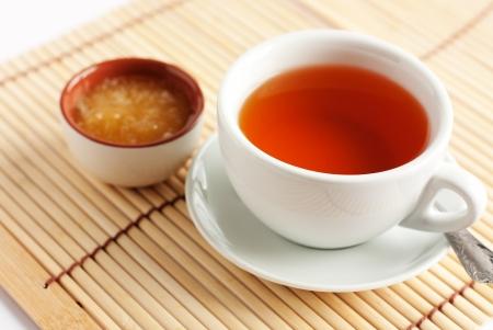 Fragrant hot tea with honey. Tea break