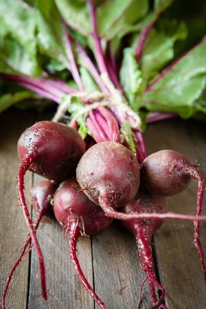 bunch fresh beets on the boards, food Stock Photo