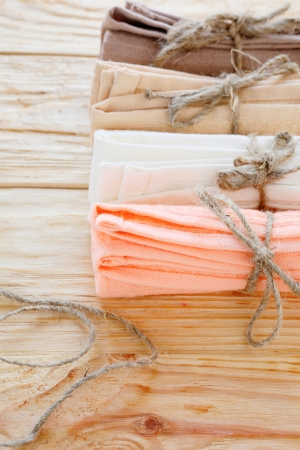 cotton kitchen towels tied with twine, home textile
