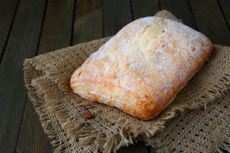 fresh Italian ciabatta, bread closeup