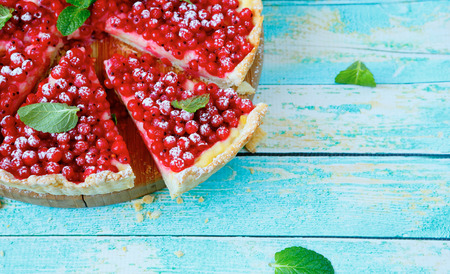 delicious berry tart, food closeup photo