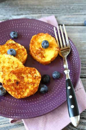 breakfast food: Yummy toast for breakfast, food closeup Stock Photo