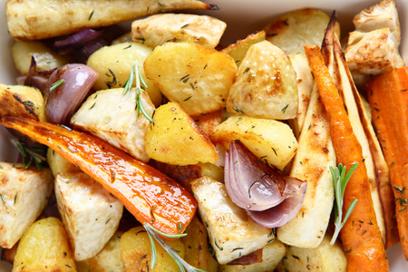 ovenbaked: Oven-baked potatoes with vegetables