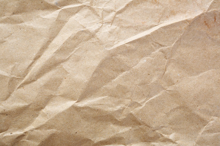 Crumpled kraft the paper, background