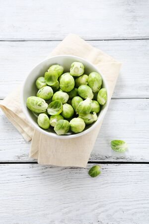 Brussels sprouts in a bowl, food
